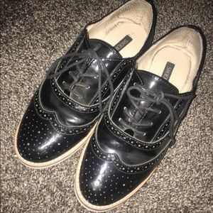 Vintage inspired Oxford style shoes